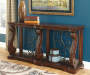 Alymere Rustic Brown Console Table lifestyle