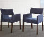Amalie Navy Blue Upholstered Dining Chairs 2 Pack Lifestyle