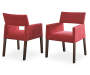 Amalie Red Upholstered Dining Chairs 2 Pack Silo