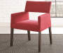 Amalie Red Upholstered Dining Chairs 2 Pack single chair angled Lifestyle