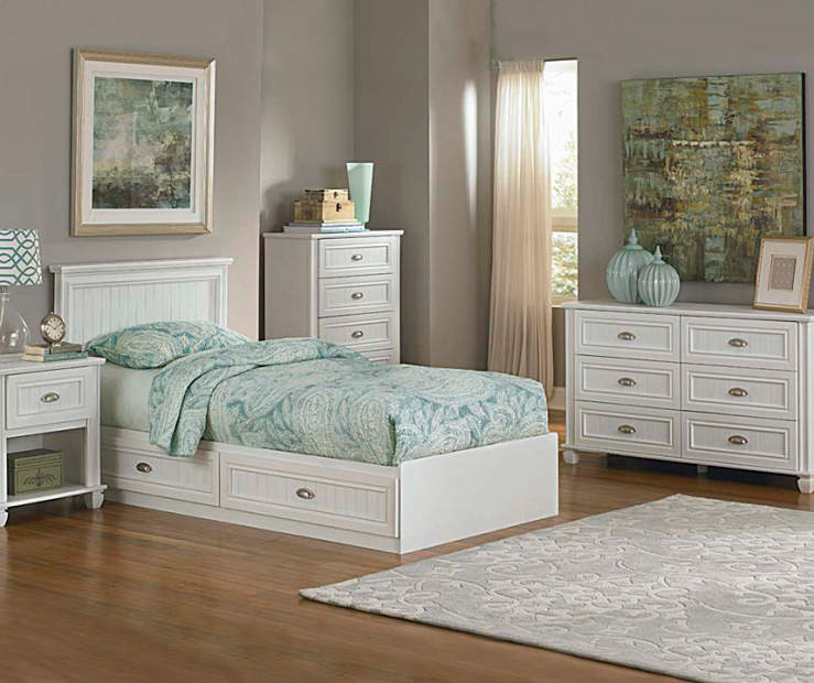 Ameriwood Twin Mates White Bedroom Collection Big Lots