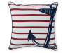 Anchor Red and Blue Outdoor Throw Pillow 17 inch x 17 inch Silo front