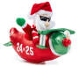 Animated Airplane Santa with LED Propeller silo side view