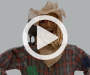 Animated Light and Sound Scarecrow 6 feet video