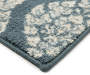 Anna Marie Navy Blue Floral Ogee Accent Rug 2 feet 4 inch x4 feet silo front corner