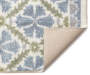 Annie Blue and Green Accent Rug 2 foot 6 inch x 3 foot 10 inch silo front corner
