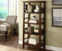 Antique Dark Brown 4 Shelf Bookcase lifestyle