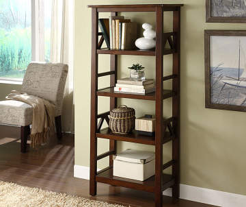 Non Combo Product Ing Price 169 99 Original List Antique Dark Brown 4 Shelf Bookcase