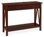 Antique Dark Brown Console Table silo angled