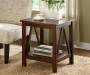 Antique Dark Brown End Table lifestyle
