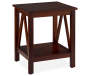 Antique Dark Brown End Table silo angled