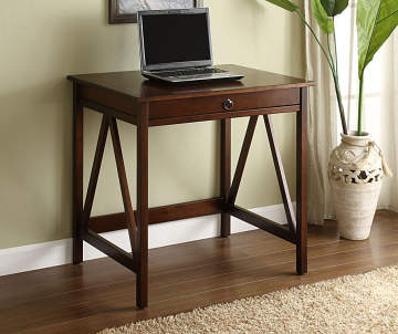 Antique Dark Brown Small Writing Desk Big Lots