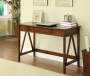 Antique Dark Brown Writing Desk lifestyle