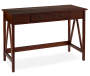 Antique Dark Brown Writing Desk silo angled