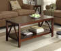 Antique Dark Coffee Table lifestyle