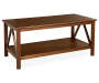 Antique Dark Coffee Table silo angled