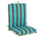 Anya Maui Blue Tropical and Stripe Reversible Outdoor Chair Cushion Silo Image