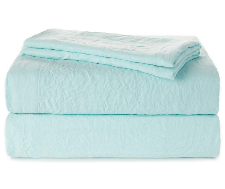 Aqua Full 4 Piece Sheet Set Folded Silo Image