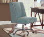 Aqua Square Back Office Chair with Nailhead Trim lifestyle