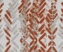Aria Cayenne Red & Gray Modern Herringbone Blackout Single Curtain Panel 63 inches Swatch