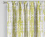 Aria Green & Gray Modern Herringbone Blackout Single Curtain Panel 95 inches Lifestyle