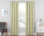 Aria Green & Gray Modern Herringbone Blackout Single Curtain Panel 95 inches Living Room Lifestyle