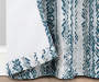 Aria Ocean Teal & Gray Modern Herringbone Blackout Single Curtain Panel 63 inches Folded Lifestyle