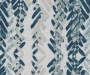 Aria Ocean Teal & Gray Modern Herringbone Blackout Single Curtain Panel 63 inches Swatch