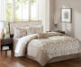 Aria Tan 10-Piece Queen Comforter Set Lifestyle Image