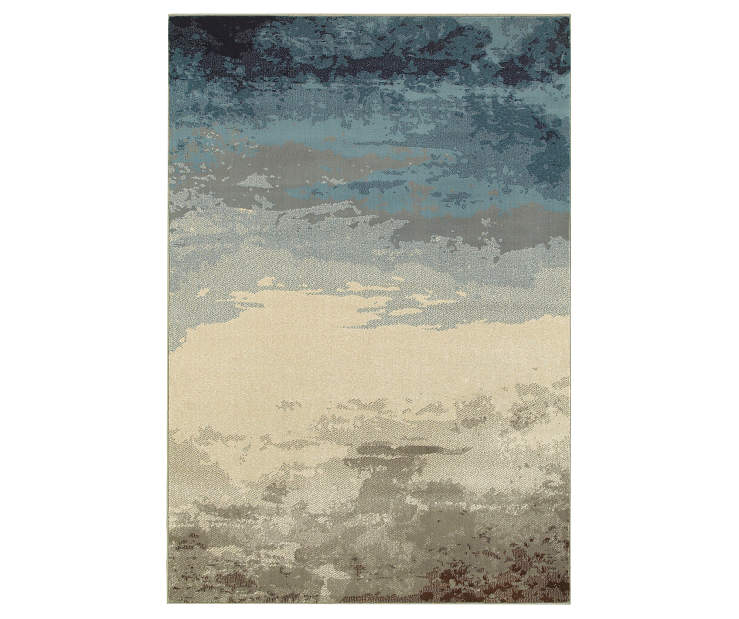 Ashton Blue Area Rug 3FT10IN x 5FT5IN Silo Image