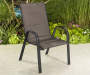 Aspen Brown Oversized Padded Stacking Chair