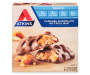 Atkins Caramel Chocolate Nut Roll Snack Bars 5 1.41 Ounce Bars Front View Silo Image