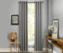 Atticus Gray Blackout Curtain Panel 84 Inches Window View
