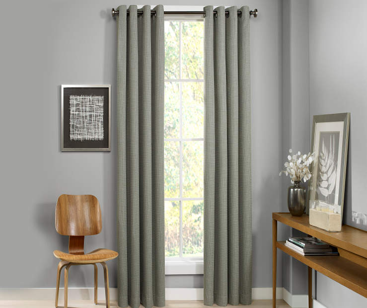 Atticus Sage Blackout Curtain Panel 84 Inches Window View