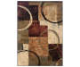 Audrey Brown Area Rug 5 Feet 3 Inches by 7 Feet 6 Inches Overhead View Silo Image