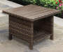 Augusta 26in All Weather Wicker Square Side Table lifestyle