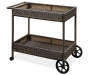 Augusta All Weather Wicker Beverage Cart silo angled