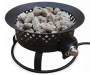 Aurora Steel Rustic Gas Firebowl silo front top view