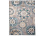 Austin Blue and Gray Medallion Area Rug 5 feet x 7 feet silo front