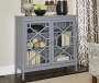 Ava Gray Geometric 2 Door Cabinet lifestyle