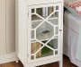 Ava White Geometric Single Door Cabinet lifestyles
