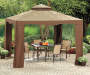 Avalon Gazebo with Netting 10inches x 10inches lifestyle with patio prop