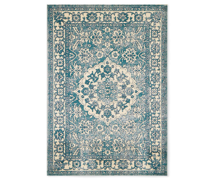 Avari Spruce Area Rug 6 feet 6 inches by 8 feet 6 inches overhead view silo image