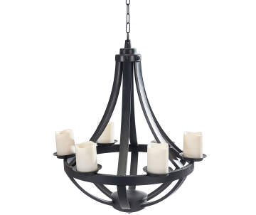 Wilson Fisher 5 Light Candle Outdoor Chandelier