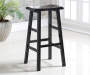 BARSTOOL 29IN BLACK SADDLE