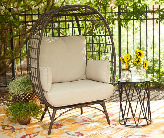 Wilson Fisher Baytree All Weather Wicker Cushioned Cuddle Patio Chair Big Lots