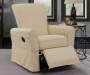 BEIGE SMOOTH BACK MANUAL RECLINER