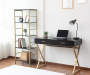 BLACK GOLD 2 DRAWER DESK
