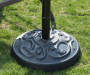 BLACK POLYMER CONCRETE UMBRELLA BASE