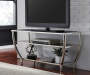 BLASNEY BLACK/CHROME TV STAND